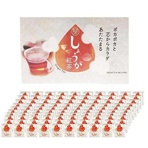 【選べる3種類】 生姜紅茶 しょうが紅茶 生姜 しょうが 紅茶 ジンジャーティー ティーバッグ 生姜湯 生姜パウダー ショウガオール 送料無料 ダイエット 冷え性 免疫力 新陳代謝 無添加 個包装 (100パック)
