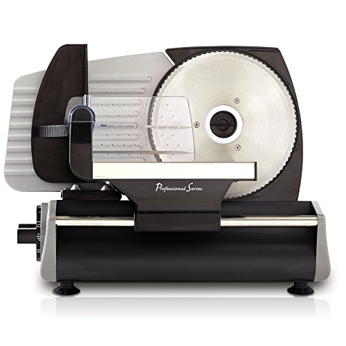 Continental Electric Pro Series Meat Slicer, Smooth Blade, Stainless Steel