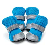 Dogs Booties 4pcs Puppy Outdoor Running Sports Shoes Anti-Slip Soft Bottom Pet Shoes