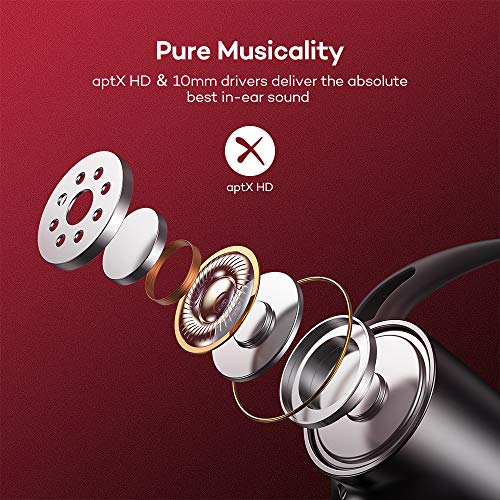 Wireless Headphones, Upgraded Boltune Bluetooth 5.0 aptX HD CVC 8.0 Noise Cancellation IPX7 Waterproof 16Hrs Playtime Earbuds, 3EQ Settings with Magnetic Connection Earphones for Running Built-in Mic 5