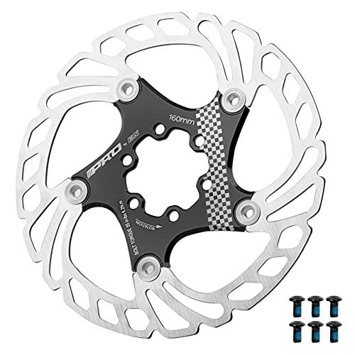 Lixada Disco de Freno de Bicicleta de 160 mm / 180 mm / 203 mm Rotores para Bicicletas con 6 Pernos para Bicicleta de Carretera de Montaña MTB