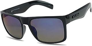 OG Classic Black KUSH Flat Top Rectangular Sunglasses Colored Mirror Reflective Shades