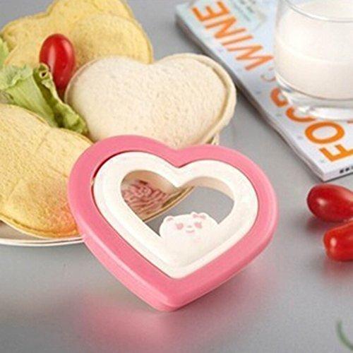 Süße Herz-Form Einfache Ausstecher Sandwich Toast Brot-Form-Hersteller für Party Haus Frühstück DIY 1 Set