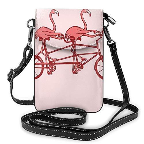 ClownFish Pink Flamingos On Tandem Bike Kleine Geldbörse Umhängetasche für Mobiltelefone Smartphone-Geldbörse Geldbörse for Frauen Mädchen