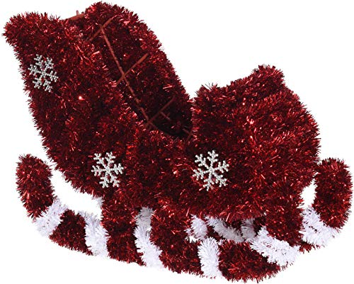 MIK Funshopping Weihnachtsdekoration, Geschenk-Verpackung zum Befüllen an Weihnachten (Weihnachtsmann-Kutsche)