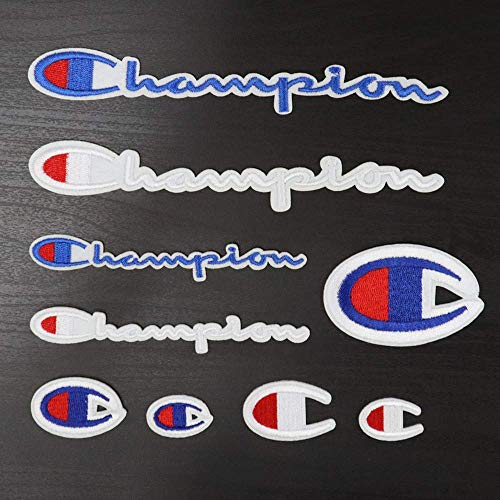 9 Pack Champion Patches Conjunto de Parches de Varios Tamaños Coser o Planchar en Bordado DIY Apliques Emblema Distintivo Decorativo
