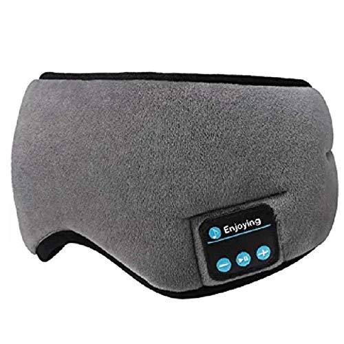 Auriculares Estéreo Inalámbricos con Bluetooth 5 0 Diadema con Máscara para Dormir En 3D Auriculares Suaves para Dormir Máscara para Los Ojos para Dormir Auriculares con Música Auriculares-A