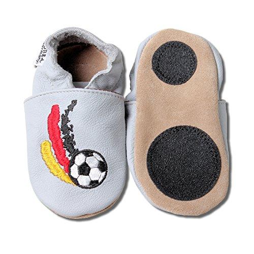 HOBEA-Germany Lauflernschuh Lederpuschen Kinderhausschuhe Kickers - für Sportfreunde, Schuhgröße:22/23 (18-24 Monate)