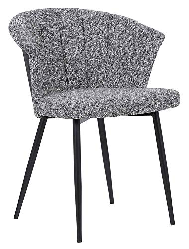 Armen Living Dining Chair with Grey Fabric
