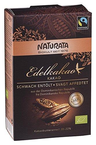 Naturata Bio Edelkakao, schwach entölt, 20-22 % (10 x 125 gr)