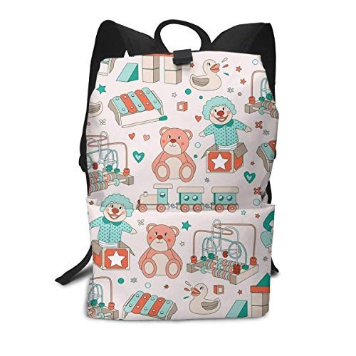 Homebe Amusement Park Locomotive Train Duck Rucksäcke,Daypack,Schulrucksack Für Jungen und Mädchen Travel Hiking Small Gym Teen Little Girls Youth Boy Women Men Kids Backpack