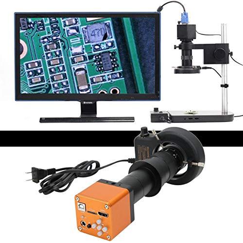 Fotocamera da 34 MP, microscopio da 34 MP 180 X HD, microscopio industriale, HDMI, USB 34 Megapixel, 56 LED, luce 180 X HD, microscopio industriale C/CS, con molti accessori