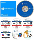 Windows 10 Home 64 bit OEM DVD + Windows 10 repair recover restore DVD + 2019 Drivers + Password Recovery + Registry Cleaner + Open Office 2019 and Clonzilla Cloning Suite. 7 in 1 Bundle