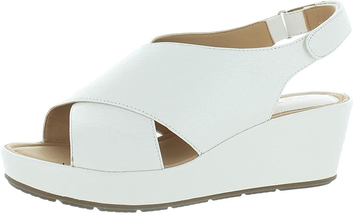 Me Too Womens Arena Be Indianapolis Mall super welcome 5 Sandals Leather Wedge Toe Open
