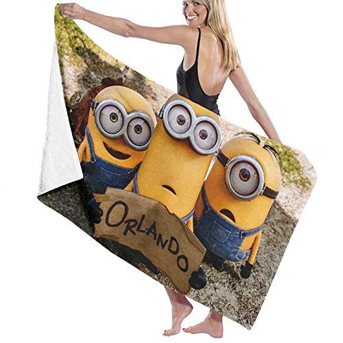 Minions Toalla de baño portátil ligera toalla de playa toalla de viaje deporte toalla súper absorbente ultra compacta toalla de baño