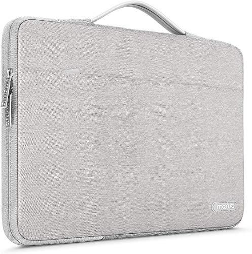 MOSISO Housse Compatible avec MacBook Pro 16 Pouces, 15 15,4 15,6 Pouces Dell HP ASUS Acer Samsung Sony, 360 Protection Laptop Sac en Polyester avec Ceinture Arrière pour Valise, Gris