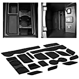 CupHolderHero for Honda CRV Accessories 2015-2016 Premium Custom Interior Non-Slip Anti Dust Cup Holder Inserts, Center Console Liner Mats, Door Pocket Liners 17-pc Set (Solid Black)