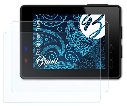 Bruni Schutzfolie kompatibel mit Apeman Trawo Folie, glasklare Displayschutzfolie (2X)