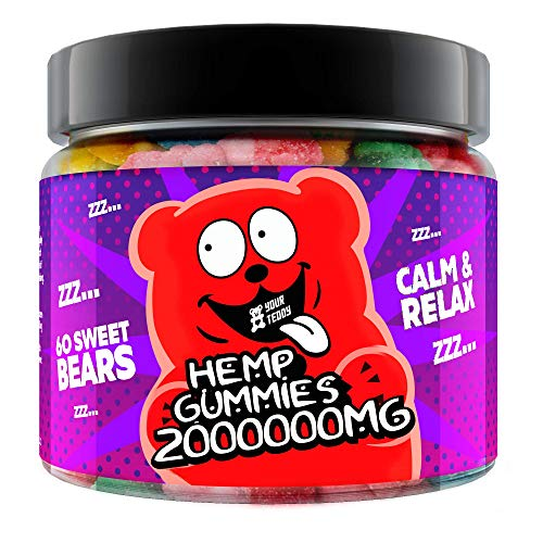 Gummies for Sleep, Pain, Anxiety, Stress & Inflammation Relief - 2,000,000 - Natural Premium Oil Extract - Candy Gummy Bears with Organic Oil