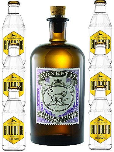 Monkey 47 Gin & 6 x Goldberg 0,2 Tonic Set