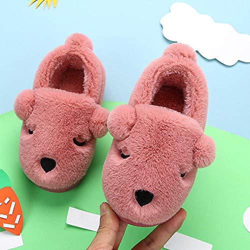 Nikai Warm Slippers, Kinder katoenen slippers, winter suède warm en schattig binnen, grote kinderen baby tas met katoenen schoenen