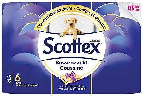 Scottex Papier toilette 3 épaisseurs, Doux et confortable, 4
