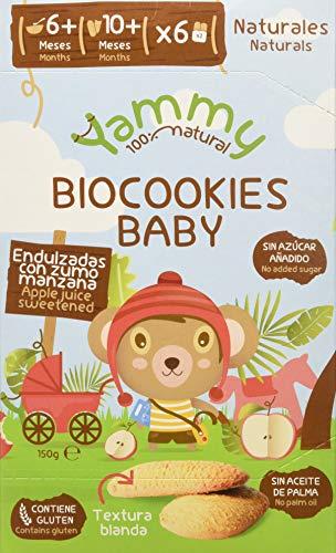 Yammy, Galleta Ecológica Bebé (Baby Vainilla) 6+ - 6 de 150 gr....