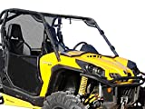SuperATV Heavy Duty Scratch Resistant Full Windshield for 2011-2020 Can-Am Commander 800/1000 / 800 MAX / 1000 MAX | 1/4' Thick Polycarbonate | 250X Stronger than Glass! | Easy Install | USA Made!