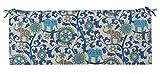 RSH Décor Indoor Outdoor 2' Foam Cushion with Ties, (36' x 14' x 2') Choose Color (Blue Elephant Bohemian)