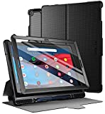Poetic Explorer Series Designed for Google Pixel Slate Case, Full Body Triple Layers Tough 360 Degree Stand Folio Cover with Built-in Screen Protector, Black