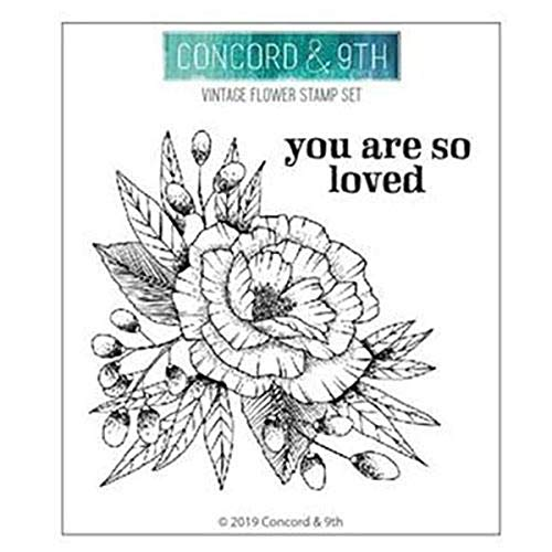 Concord & 9th Clear Stamps 4'X4'-Vintage Flower