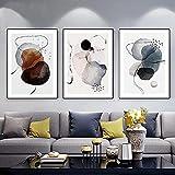 Art wall 3 piezas 60x80 cm sin marco moderno abstracto moda color círculo pintura carteles de arte de pared e imágenes de arte de pared impresas para la decoración de la sala de estar