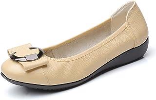 [WOOYOO] バレエシューズ レデース 婦人用 ぺたんこ靴 浅め パンプス お洒落 フラットシューズ ママシューズ 柔らかい コンフォート 歩きやすい フォーマル 折りたたみ 通気性 ベルト 黒