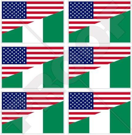 USA Verenigde Staten van Amerika & NIGERIA vlag, Amerikaanse & Nigeriaanse 40mm (1.6
