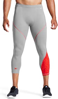 Mission X Wade Collection Men's Compression 3/4 Tights, Hex Orange/Grey, Large