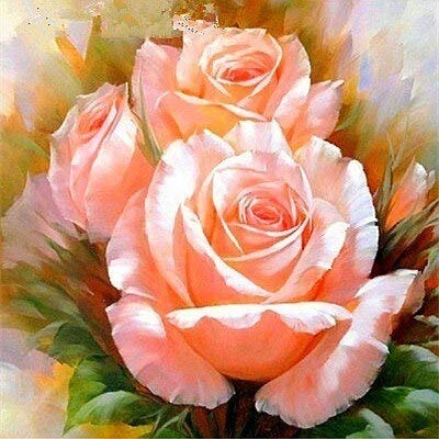 Cuadro de diamantes de flores flor de piedra redonda completa bordado de diamantes cuadro de diamantes de imitación rosa pintura de mosaico A23 30x30cm