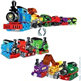 KareFLASH Choo Choo Steam Cargo Train Building Kit   Major Brands Compatible   302 Pieces in 6 Individual 2-in-1 Boxes, 12 Projects   New 2020   Party Favors Bags   Kids Love Them!