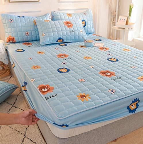 GSYHZL weiche Stretch Spannbettlaken,rutschfeste Bettlaken aus Polyesterfaser für...