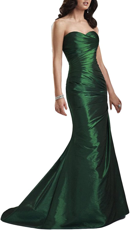 Emmani Women's Long Sweetheart Mermaid Shiny Formal Prom Evening Dresses
