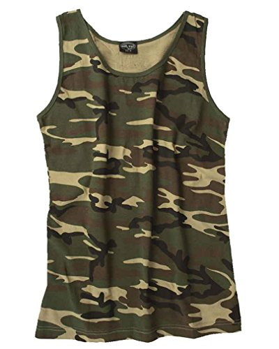 Mil-Tec Tank Top Cotton Woodland Gr.S