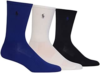 3-Pack Athletic Arch Support Polo Player Embroidery Crew Sock