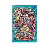 Beatles Sgt Pepper Poster, dekoratives Gemälde, Leinwand,