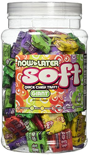 Now and Later Giant Soft Chewy Taffy Candy (31.8 Ounces)