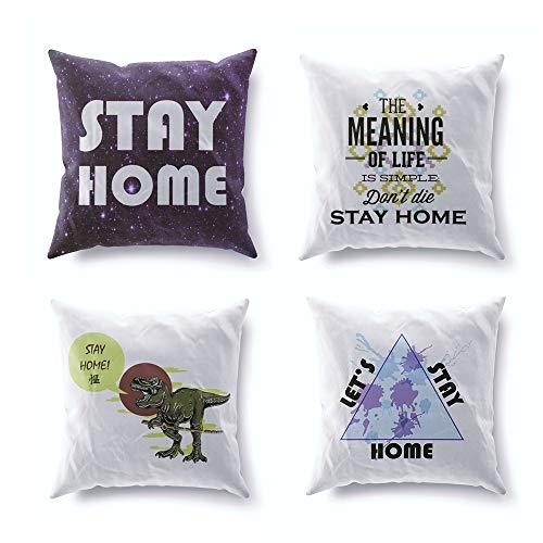 Adam Home - Funda de cojín de terciopelo para coche, sofá, dormitorio, terciopelo, Significado de la vida, 18 x 18