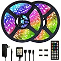 Segrass Waterproof Color Changing 32.8ft 5050 RGB Led Strip Lights