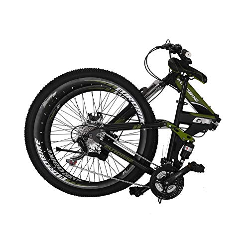 EUROBIKE Bicycle G7 27.5-inch Bike Mountain Bike 27.5' 21-Speed Shift Left 3 Right 7 Cycle Folding Mountain Bike Frame Shock Absorption Mountain Bike Army Green, 27.5