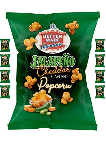 Great Deal! Better Made Jalapeno Cheddar Cheese Flavored Popcorn - (8) x 2.5oz Bags - (Pack of 8)