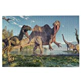 Gaseekry Spinosaurus and Deinonychus Puzzles for Adults 1000 Piece,Wooden Jigsaw Puzzles,Premium Quality Puzzle Game Toys for Adults Kids Teens