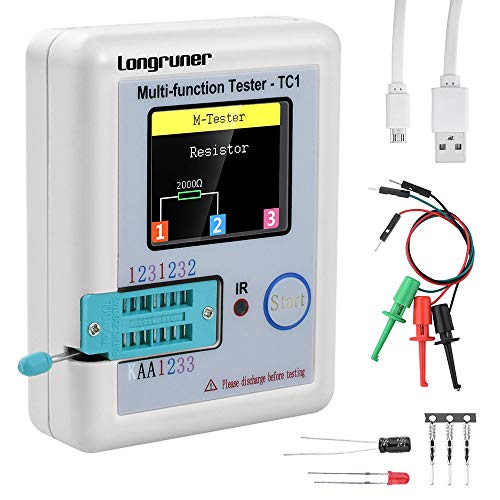 KKmoon Multifunktionale Transistor Tester【mit TFT Hintergrundbeleuchtung Farbe Anzeige/ Didoe Triode Widerstand Kapazität Detektor/ Induktivität MOSFET NPN PNP/ Triac MOS Automatischer Kalibrierung】