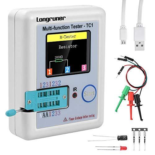 Ranuw LCR-T4 Mega328 Transistor Tester Diode Capacitor ESR LCR Meter With Case MOS PNP